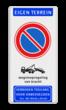 Parkeerverbod - wegsleepregeling - verboden toegang - 300x600mm