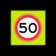 Verkeersbord RVV A01-050f - Maximum snelheid 50 km/h