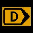 Tekstbord - T201r-d - Werk in uitvoering