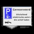 Parkeerplaatsbord VLAK 300x200x2mm - E080 + eigen tekst