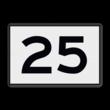 Scheepvaartbord  H.1a - KM-bord-1-2 kar