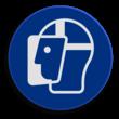 Veiligheidspictogram - Gezichtsbescherming verplicht - M013