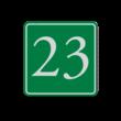 Huisnummerbord (LOS)  groen/wit