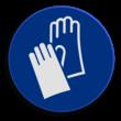 Veiligheidspictogram - Handschoenen dragen verplicht - M009