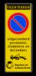 Parkeerbord 400x1000mm et-E01-4txt-wsr- LOGO