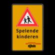 Verkeersbord RVV J21 + 3 txt_logo