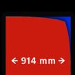 Reflecterende folie kl.1 rood 914mm breed