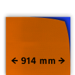 Reflecterende folie kl.3 oranje 914mm breed