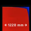 Reflecterende folie kl.3 rood 1220mm breed