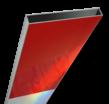 Schrikhekplank 2000mm lang kokerprofiel blokmotief. RVV BB16-1