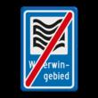 Verkeersbord RVV L304e - Waterwingebied - einde