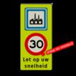 Verkeersbord Industrieterrein + A1 + 2txt