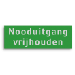 Veligheidsbord ARV 300x100mm groen/wit 2 regels tekst