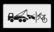 Verkeersbord RVV OB304c - Onderbord - Wegsleep- en knipregeling van kracht
