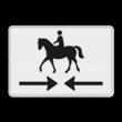 Verkeersbord RVV OB503OB01 - Onderbord - Kruising ruiterpad