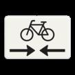 Verkeersbord RVV OB503OB102 - Onderbord - Kruising fietspad