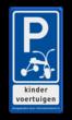 Verkeersbord RVV E08 kinderfiets VUmc