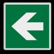 Veiligheidspictogram - Vluchtroute - te volgen richting - links
