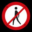 Verbodsplaatje - voor Wandelaars rond 100mm