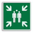 Veiligheidspictogram - Verzamelplaats - E007