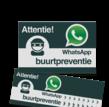 WhatsApp Buurtpreventie Reflecterende stickers ( set 10 stuks )