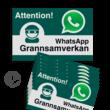 WhatsApp - Sweden - Grannsamverkan Reflecterende stickers (set 10 stuks) - L209wa