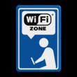 Informatiebord blauw/wit/zwart - Wifi-zone