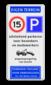 Parkeerbord eigen terrein E04/A01-15 + eigen tekst
