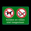 2 verkeerstekens + 2 regels tekst