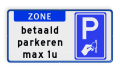 Tekstvalk + Verkeersteken rechts