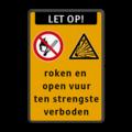 Koptekst + 2x Verkeersteken + 7 tekstregels + Ondertekst