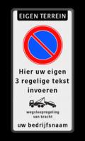 Koptekst + Verkeersteken + 4 Tekstregels + Pictogram + 2 Tekstregels