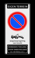 Koptekst + Verkeersteken + Pictogram + Ondertekst