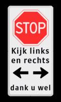 Verkeersteken + 3 Tekstregels + Pictogram + 3 Tekstregels
