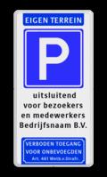 Koptekst + Verkeersteken + 5 Tekstregels + Ondertekst