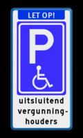 Aanhef + Parkeerbord + 5 tekstregels