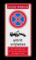 Koptekst + Verkeersteken + Pictogram + 2 tekstregels + Ondertekst