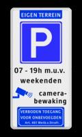 Koptekst - Verkeersteken - 3 tekstregels - betaald parkeren- Ondertekst