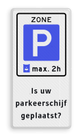Parkeerbord + 5 tekstregels