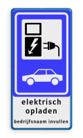 Verkeersteken E serie + 2x2 tekstregels