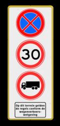 3x Verkeersteken + pictogram