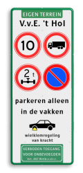koptekst - 1 tekstregel - 4 verkeersteken - 4 tekstregels  - pictogram - ondertekst