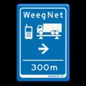 Verkeersbord 40x60 WeegNet - Route