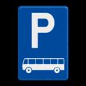 Verkeersbord België E09d - Parkeren uitsluitend voor autocars