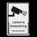 Verkeersbord camerabewaking - Basic + bedrijfsnaam