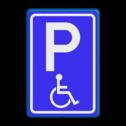 Verkeersbord RVV E06 - Parkeren mindervaliden