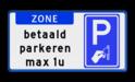 Parkeerbord - Betaald parkeren + eigen tekst