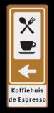 Bewegwijzering BW101 (2picto) + pijlfiguratie en eigen tekst