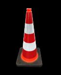 Verkeerskegel 750mm KL2 Verzwaard - Voor gebruik openbare ruimte & wegwerkzaamheden