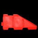 Barriër beginstuk 120 ltr. - 1450x600x400mm kunststof barrier, rijbaanscheiding
